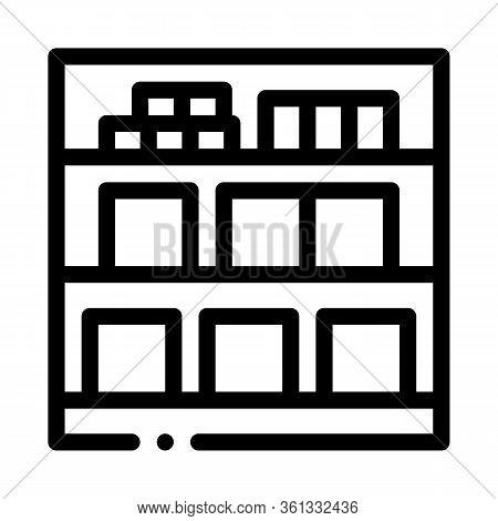 Basement Cellar Icon Vector. Basement Cellar Sign. Isolated Contour Symbol Illustration