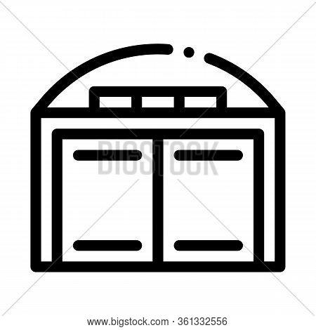 Car Garage Icon Vector. Car Garage Sign. Isolated Contour Symbol Illustration