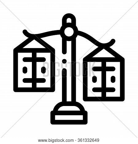 Significance Preponderance Of Different Products Icon Vector. Significance Preponderance Of Differen