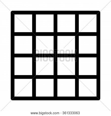 Symmetrical Tile Surface Icon Vector. Symmetrical Tile Surface Sign. Isolated Contour Symbol Illustr