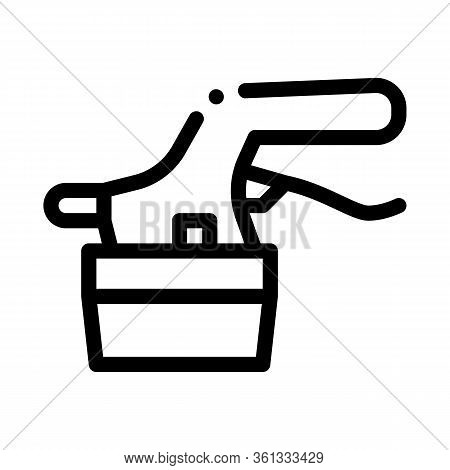 Tile Cutter Icon Vector. Tile Cutter Sign. Isolated Contour Symbol Illustration