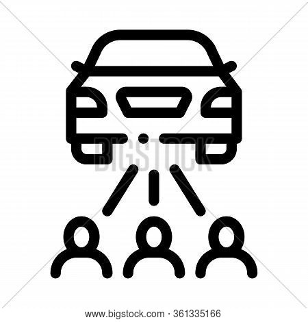 Inspection By People Icon Vector. Inspection By People Sign. Isolated Contour Symbol Illustration