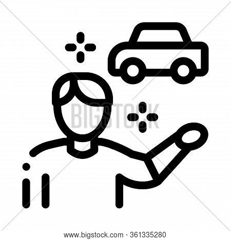 Machine Seller Icon Vector. Machine Seller Sign. Isolated Contour Symbol Illustration
