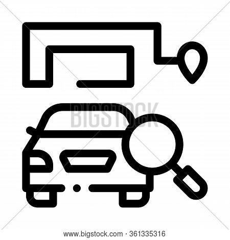 Technical Study Of Machine Icon Vector. Technical Study Of Machine Sign. Isolated Contour Symbol Ill