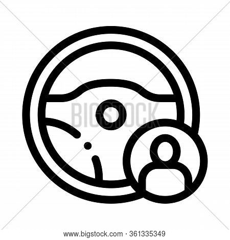 Personal Driver Icon Vector. Personal Driver Sign. Isolated Contour Symbol Illustration