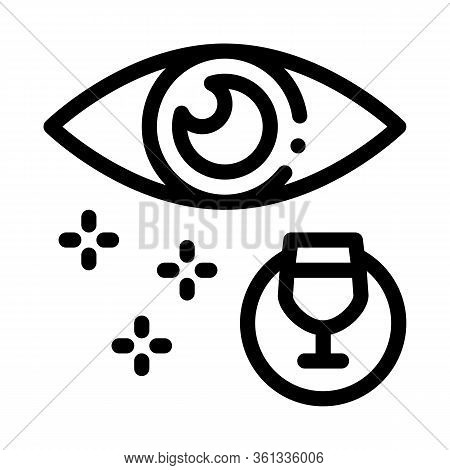 External Assessment Of Wine Icon Vector. External Assessment Of Wine Sign. Isolated Contour Symbol I