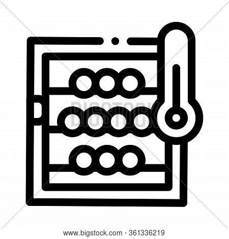 Temperature In Wine Cellar Icon Vector. Temperature In Wine Cellar Sign. Isolated Contour Symbol Ill