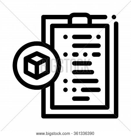 Parcel Declaration Icon Vector. Parcel Declaration Sign. Isolated Contour Symbol Illustration