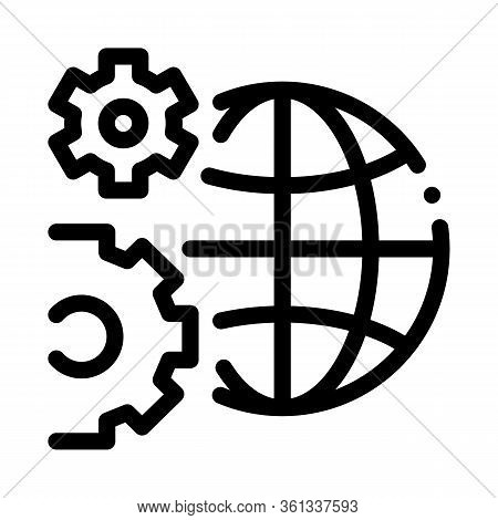 Solving Planet Problems Icon Vector. Solving Planet Problems Sign. Isolated Contour Symbol Illustrat