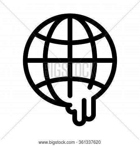 Global Warming Icon Vector. Global Warming Sign. Isolated Contour Symbol Illustration