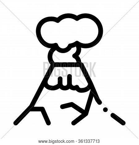 Eruption Icon Vector. Eruption Sign. Isolated Contour Symbol Illustration