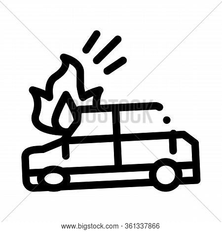 Car Ignition Icon Vector. Car Ignition Sign. Isolated Contour Symbol Illustration