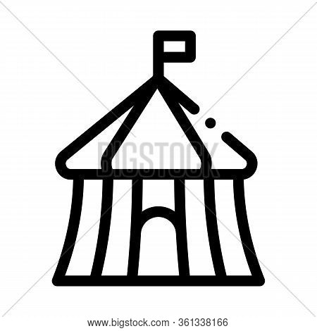 Circus Outside View Icon Vector. Circus Outside View Sign. Isolated Contour Symbol Illustration