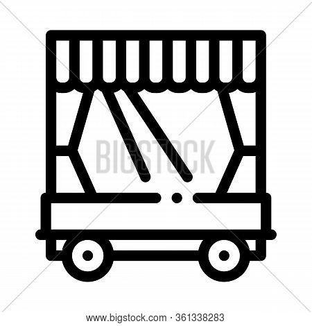 Mobile Puppet Theater Icon Vector. Mobile Puppet Theater Sign. Isolated Contour Symbol Illustration