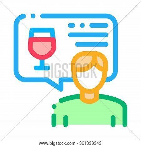 Representative Of Wine Icon Vector. Representative Of Wine Sign. Color Symbol Illustration