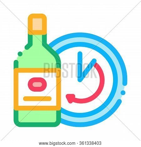 Temporary Aging Of Wine Icon Vector. Temporary Aging Of Wine Sign. Color Symbol Illustration