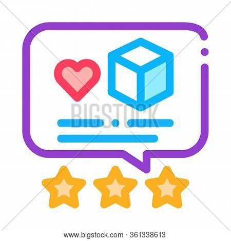 Package Delivery Estimate Icon Vector. Package Delivery Estimate Sign. Color Symbol Illustration