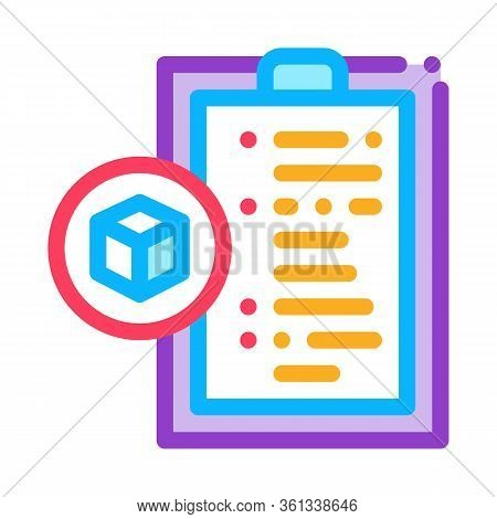 Parcel Declaration Icon Vector. Parcel Declaration Sign. Color Symbol Illustration
