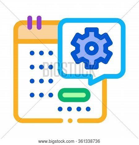Technical Day On Calendar Icon Vector. Technical Day On Calendar Sign. Color Symbol Illustration