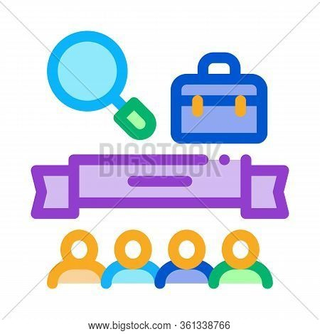 People Finish Research Icon Vector. People Finish Research Sign. Color Symbol Illustration