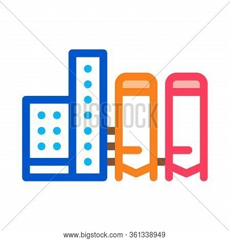 Thermal Towers With Heat Towers Icon Vector. Thermal Towers With Heat Towers Sign. Color Symbol Illu