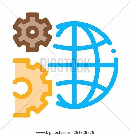Solving Planet Problems Icon Vector. Solving Planet Problems Sign. Color Symbol Illustration
