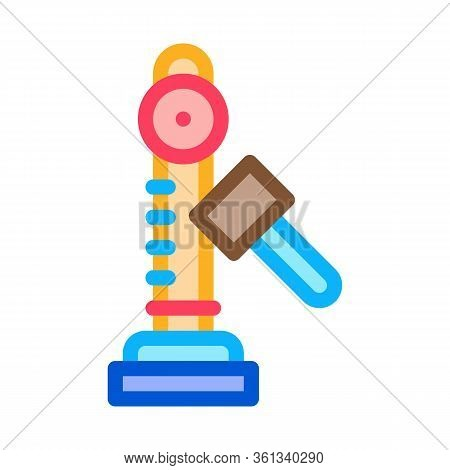 Power Attraction To Measure Strength Icon Vector. Power Attraction To Measure Strength Sign. Color S