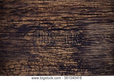 Brown Old Wood Texture Nature. Abstract Woodgrain Texture Background.