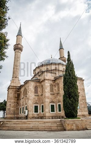 Turkish Mosque Of The Martyrs Shehidler In Baku.