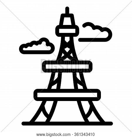France Tower Icon. Outline France Tower Vector Icon For Web Design Isolated On White Background