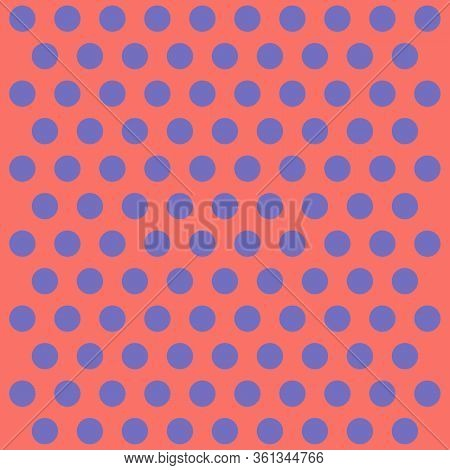 Easter Pattern Polka Dots. Template Background In Red And Violet Polka Dots. Seamless Fabric Texture