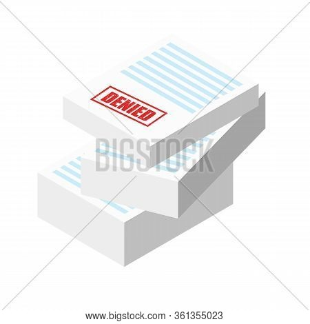 Urgent Stamp On The Stack Of Paper Sheets. Authorization Approval Document, Confirmed Doc, License I
