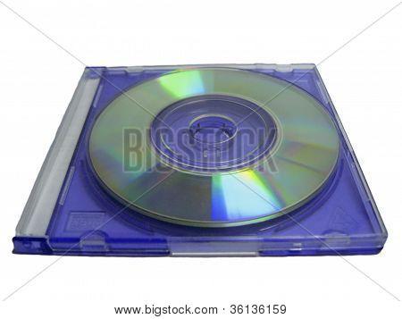 Compact Mini Disc In Blue Clear Case