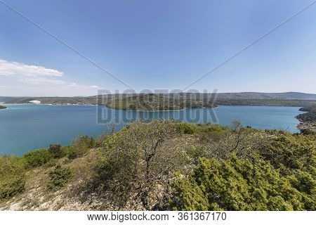 A View Of Rasa Bay From A Top Of The Hill, The Bay Is 12 Km Long And 1 Km Wide, Istria, Croatia