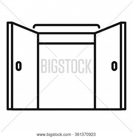 Office Entrance Icon. Outline Office Entrance Vector Icon For Web Design Isolated On White Backgroun
