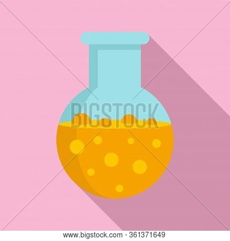 Chemical Boiling Flask Icon. Flat Illustration Of Chemical Boiling Flask Vector Icon For Web Design