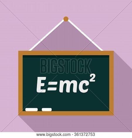 School Lesson Board Icon. Flat Illustration Of School Lesson Board Vector Icon For Web Design