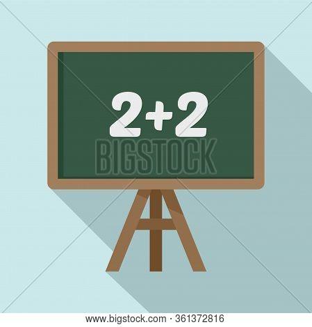 Lesson Board Icon. Flat Illustration Of Lesson Board Vector Icon For Web Design