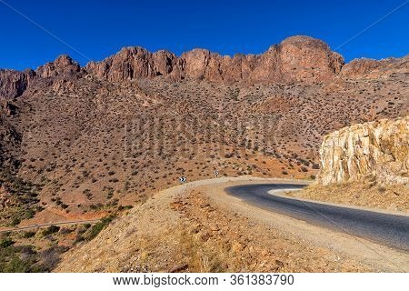 Scenery Along The R105 Near Tafraout In Morocco. This Route Along The Atlas Mountain Is A Terrific E