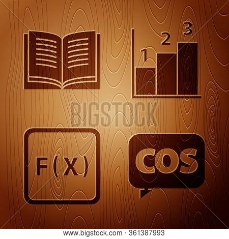 Set Mathematics Function Cosine, Open Book, Function Mathematical Symbol And Graph, Schedule, Chart,