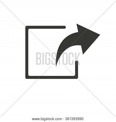 Undo Arrow Icon, Redo Arrow Icon. Direction Arrow Sign. Arrow Button.