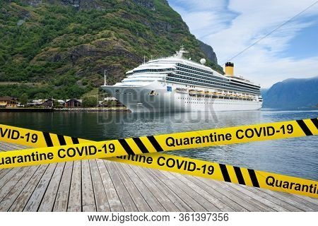Fall and collapse of the cruise industry. Coronavirus stopped the voyage of the liners. Quarantine COVID-19 in Norway