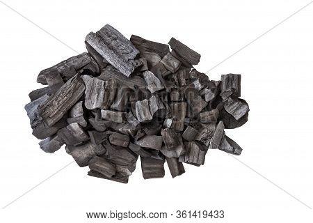 Natural Wood Charcoal,traditional Charcoal Or Hard Wood Charcoal Isolated On White