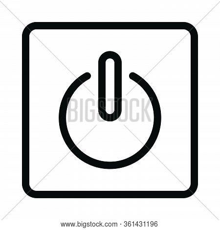 Shutdown Icon For Website Design And Desktop Envelopment, Development. Premium Pack.