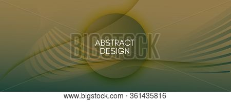 Brown Landing Page Design. Abstract Flow Lines Brochure. Color Creative Background. Army Geometric I