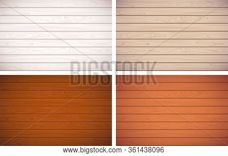 Vector Wood Texture. A Set Of Wooden Boards, A Table Or Cover For The Background On Which There May