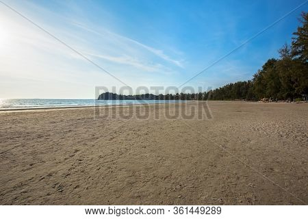 Karon Beach Phuket Thailand. Exotic Paradise Of Thailand Beach Asia. Peaceful Ocean Wave At Beach. P