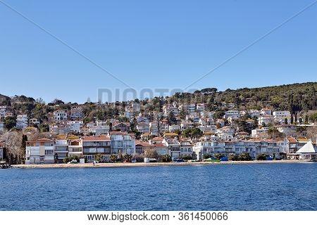 Istanbul, Turkey - February 13, 2020: Kinaliada One Of Prince Island Or Just Adalar, Sunny Winter Da