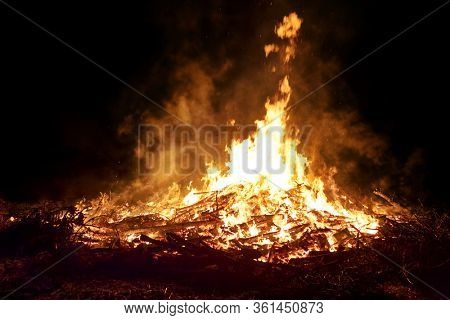 a great fire on open field