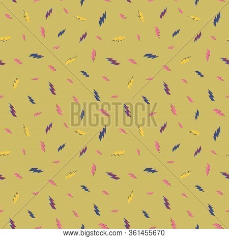 Lightening, Thunder Bolt Repeat. Pattern For Fabric, Backgrounds, Wrapping, Textile, Wallpaper, Appa